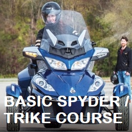 Sidecar Trike Education Program. CanAm Spyder license.